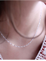cheap -Women's Chain Necklace Silver Plated Chain Necklace , Wedding Party Daily Casual