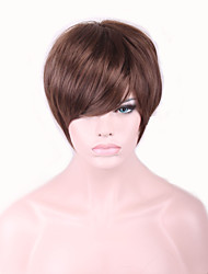 cheap -Best-selling Europe And The United States With Short Brown Wig 4 Inch