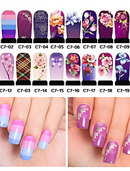 20pcs Hot Nail Art Water Transfer Stickers Decals Full Cover DIY Nail Designs Manicure Tools (C7-001 to C7-020)
