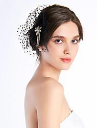 abordables -Femme Mousseline Casque-Mariage / Occasion spéciale / Décontracté / Extérieur Coiffure / Fleurs Clair
