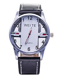 cheap -L.WEST Men's Hollow Out Analog Quartz Sports Leather Watch Wrist Watch Cool Watch Unique Watch Fashion Watch