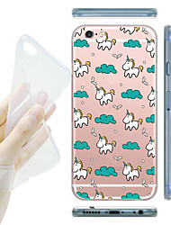 cheap -For iPhone 7 MAYCARI® Unicorn's Happy Life Soft Transparent TPU Back Case for iPhone 6s 6 Plus