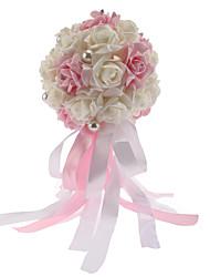 economico -Bouquet sposa Bouquet Matrimonio Schiuma 30 cm ca.