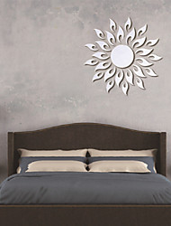cheap -3D The Sun DIY Mirror Acrylic Wall Stickers Wall Decals