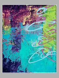 Hånd-malede Abstrakt Vertikal,Moderne Et Panel Kanvas Hang-Painted Oliemaleri For Hjem Dekoration