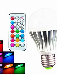 B22 E26/E27 LED Globe Bulbs A60(A19) 3pcs High Power LED 550LM lm RGB 6500K K Dimmable Remote-Controlled Decorative AC 100-240 V