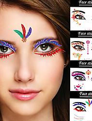 abordables -2Pcs - Autres - Multicolore - Motif - 13.2*9.2*0.5 - Tatouages Autocollants - Others - Adulte