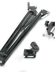 baratos -Profissional Suporte de mesa de braço suspenso Suporte de suporte de quadro Microfone Material Rotação 360° Acessórios para Instrumentos