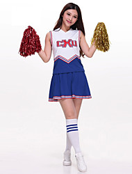 cheap -Cheerleader Costumes Outfits Women's Performance Polyester Embroidery Sleeveless High Top Skirt