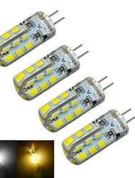 g4 führte Bi-pin Lichter t 24 SMD 2835 126 ~ 150lm warmweiß kaltweiß 3000 ~ 3200k / 6000 ~ 6500k dekorative DC 12V