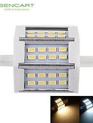 cheap -5W R7S LED Floodlight Recessed Retrofit 24 SMD 5730 450-500 lm Warm White Cold White 3000-3500  6000-6500 K Dimmable AC 85-265 V