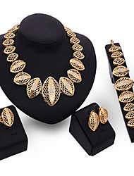 cheap -Jewelry Set - Cubic Zirconia Statement, Vintage, Party Include Gold For Party Special Occasion Anniversary / Earrings / Necklace