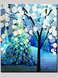 Недорогие -ручная роспись абстрактного ландшафта современного дерева масляной живописи на холсте с рамкой одна панель