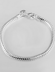 Hot Snake Bone 925 Silver Plated Party Chain & Link Bracelets For Woman&Lady