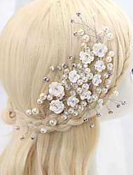 Crystal Imitation Pearl Rhinestone Alloy Headbands Headpiece