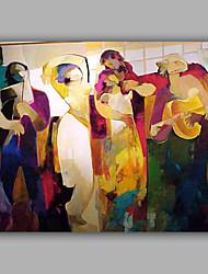 economico -Dipinta a mano Ritratti Orizzontale, Modern Tela Hang-Dipinto ad olio Decorazioni per la casa Un Pannello