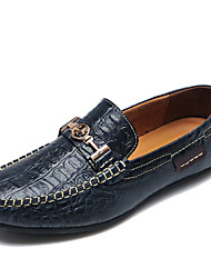 cheap -Men's Shoes Leather Spring Summer Formal Shoes Loafers & Slip-Ons Buckle for Wedding Office & Career Green Dark Blue Black