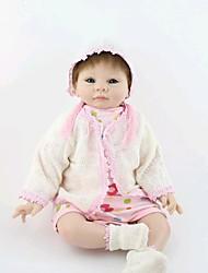 cheap -NPK DOLL Reborn Doll Baby 22inch Silicone / Vinyl - Newborn, lifelike, Handmade Girls' Kid's Gift