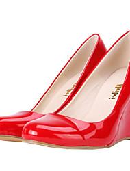 Недорогие -Черный / Синий / Желтый / Зеленый / Розовый / Фиолетовый / Красный / Белый / Оранжевый / Кожа - Женская обувь -Для праздника / На каждый