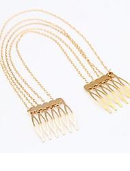 Korean Fashion Alloy Long Tassel Chain Hair Comb in Party