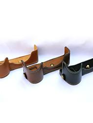 dengpin® PU-Leder halb Kamera Tasche Abdeckung Basis für Sony ILCE-7m2 a7ii (verschiedene Farben)