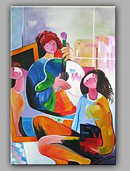 Ručno oslikana Ljudi Vertikalno, Moderna Platno Hang oslikana uljanim bojama Početna Dekoracija Jedna ploha