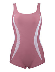 Womens Slim Solid One Piece Bathing Suit