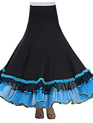 cheap -Ballroom Dance Tutus & Skirts Women's Performance Crepe Milk Fiber Draping Skirt