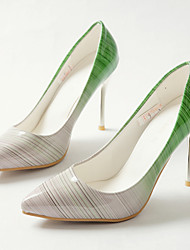 cheap -Women's PU(Polyurethane) Spring / Summer / Fall Comfort / Light Up Shoes / Club Shoes Heels Walking Shoes Stiletto Heel Pointed Toe Yellow / Red / Green / Party & Evening / Dress / Party & Evening