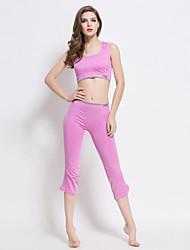 abordables -SWIMMART Mujer Sujetador deportivo con pantalones de running Sin Mangas Anti-Shake Secado rápido A Prueba de Golpes Sin costura Suave