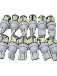 cheap -A Dozen of T10 LED Bulbs Car LED Position Light W5W LED Reading Light W5W Interior LED Light T10 5050 5SMD LED