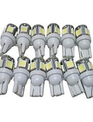 Недорогие -десятка t10 светодиодные лампы автомобиль вел свет W5W положение привело лампа для чтения W5W интерьер привело свет T10 5050 5SMD привело