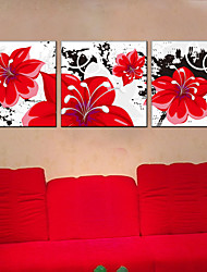 cheap -Stretched Canvas Print Botanical Three Panels Square Print Wall Decor Home Decoration