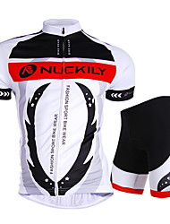 Nuckily Cycling Jersey with Shorts Unisex Short Sleeves Bike Jersey Shorts Top Clothing Suits Waterproof Ultraviolet Resistant Waterproof