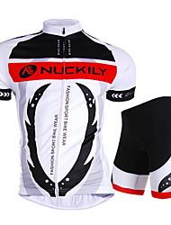 economico -Nuckily Maglia con pantaloncini da ciclismo Unisex Manica corta Bicicletta Maglietta/Maglia Pantaloncini /Cosciali Top Set di vestiti