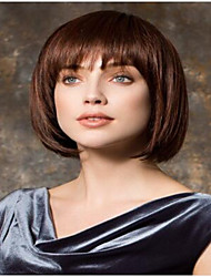 Hot Sale  Brown Short Syntheic Bob Wig Extensions Top Quality