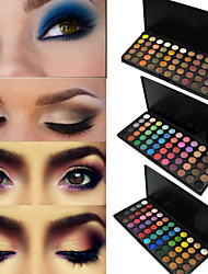 preiswerte -55 Colors Lidschattenpalette Matt / Schimmer Lidschatten-Palette Puder Set Smokey Makeup / Party Make-up / Halloween Make-up