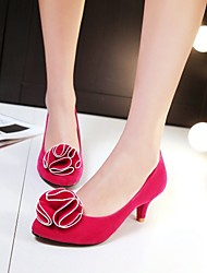 baratos -Feminino Para Meninas Sapatos Courino Primavera Verão Outono Salto Sabrina Com Para Social Preto Vermelho