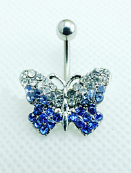 Z&X® Fashion Flowers Alloy Navel & Bell Button Rings Daily / Rhinestone Casual 1pc