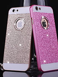 billige -Big D Metal Bling Mønster Bag Etui Til Iphone 4 / 4S