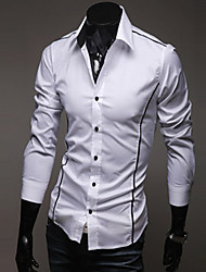 cheap -Men's cultivate one's morality personality edge shirt Leisure fashion long-sleeved shirt GESE4