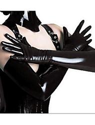 Недорогие -Жен. Ультра-секси Ночное белье Однотонный Полиуретановая Черный