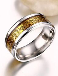 Široké prsteny Nerez Ocel Módní Zlatá Stříbrná Zlatá Šperky Párty 1ks
