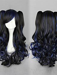 Недорогие -Парики для Лолиты Сладкое детство Черный Лолита Парики для Лолиты 28 дюймовый Косплэй парики Однотонный Парики Хэллоуин парики