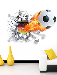 cheap -3D Wall Stickers Wall Decals Style Football Waterproof Removable PVC Wall Stickers