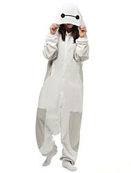 Недорогие -Пижамы кигуруми Мультфильмы Белый Макс Цельные пижамы Костюм Флис Синтетика Белый Косплей Для Взрослые Нижнее и ночное белье животных