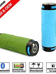 屋外 屋内 ドッキングステーション Bluetooth パータブル ワイヤレス ブルートゥース 4.0 3.5mm AUX サブウーファー グリーン ブルー
