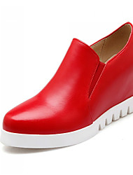 cheap -Women's Shoes Leatherette Spring / Summer / Fall Platform / Wedge Heel Gore White / Black / Red