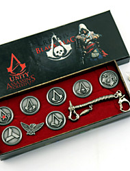 cheap -Jewelry Badge Inspired by Assassin Cosplay Anime/ Video Games Cosplay Accessories More Accessories Badge Brooch Alloy Male