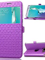 economico -Custodia Per Samsung Galaxy Samsung Galaxy S7 Edge Con supporto / Con sportello visore Integrale Geometrica pelle sintetica per S7 edge / S7 / S6 edge plus